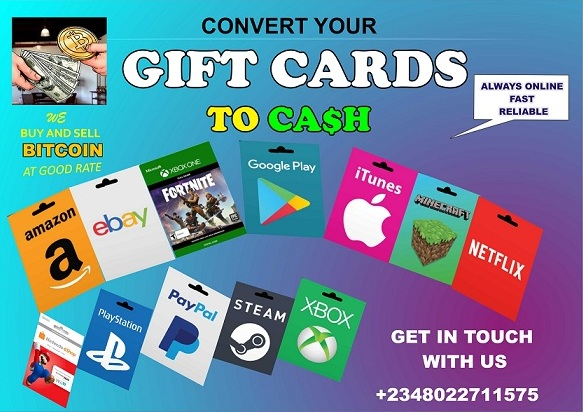 Click/Tap on the Image Below to Convert Your Gift Cards to Ca$h Instantly ⚡💱